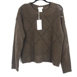 NWT Bartolini knit sweater brown holes large